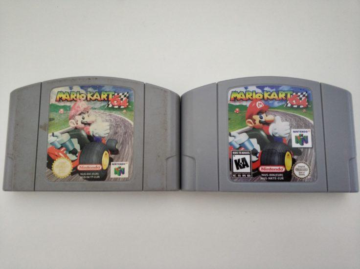 Mario Kart 64 Cartridge Vergleich