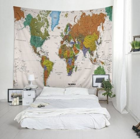 Leinwand mit Weltkarte Maße