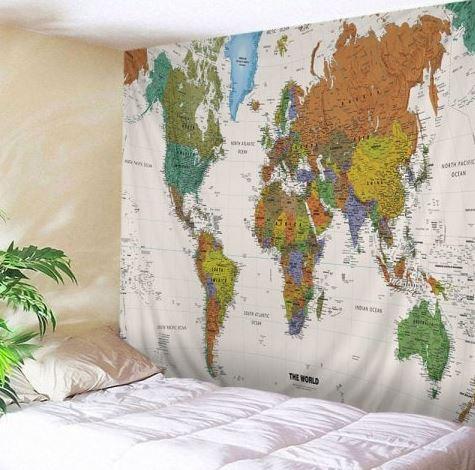 Leinwand mit Weltkarte