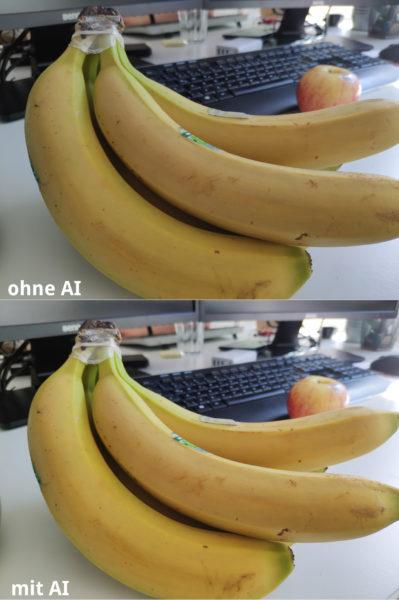 Xiaomi Mi Mix 2S Testfoto Banane AI