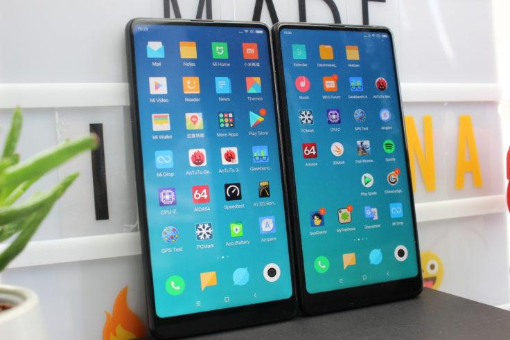 Xiaomi Mi Mix 2S Vergleich Mix 2