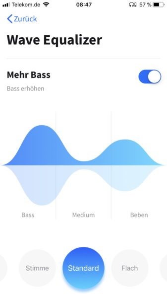 Anker Soundcore App Equalizer Einstellungen