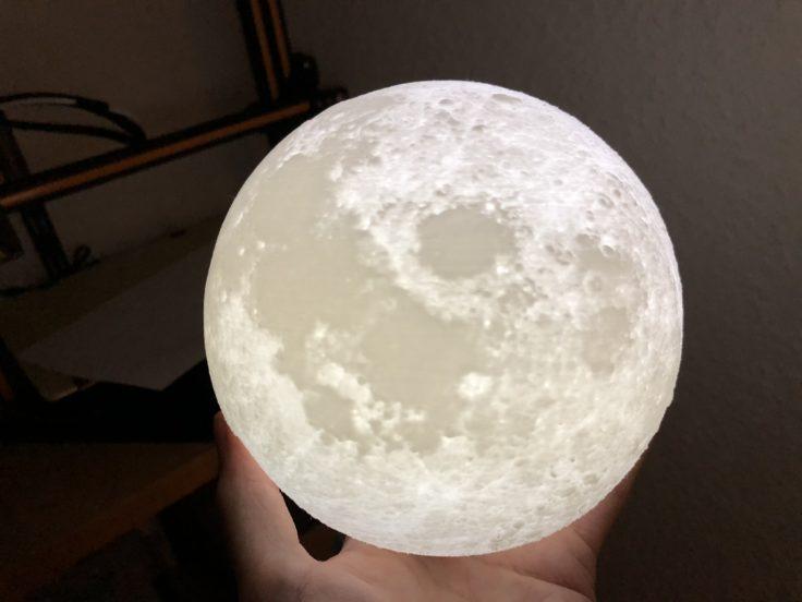 Die beliebte Moonlamp (hier auf Thingiverse)