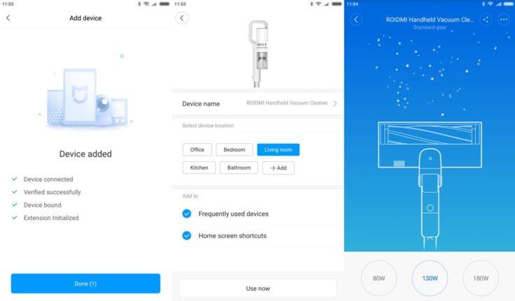 Roidmi F8 Akkustaubsauger Mi Home App