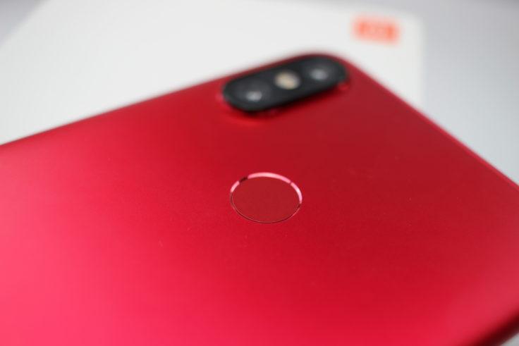 Xiaomi Mi 6X Fingerabdrucksensor