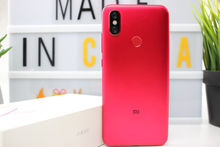 Xiaomi Mi 6X Rueckseite Rot