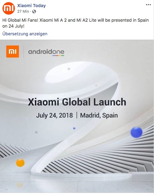 Xiaomi Mi A2 Lite Global Launch