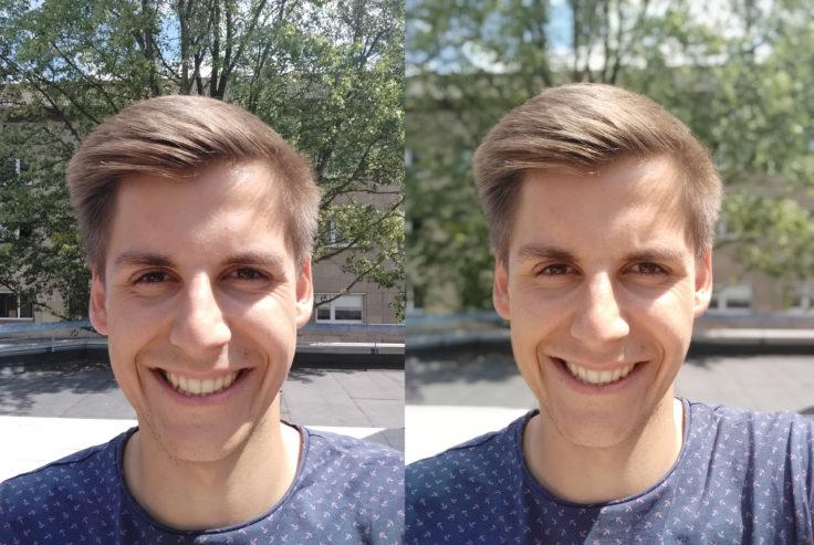 Xiaomi Redmi 6 Pro Testfoto Frontkamera Portrait Vergleich