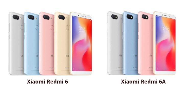 Xiaomi Redmi 6 Unterschied