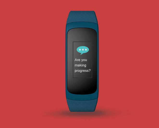 Zeblaze Plug C Fitness Tracker Display