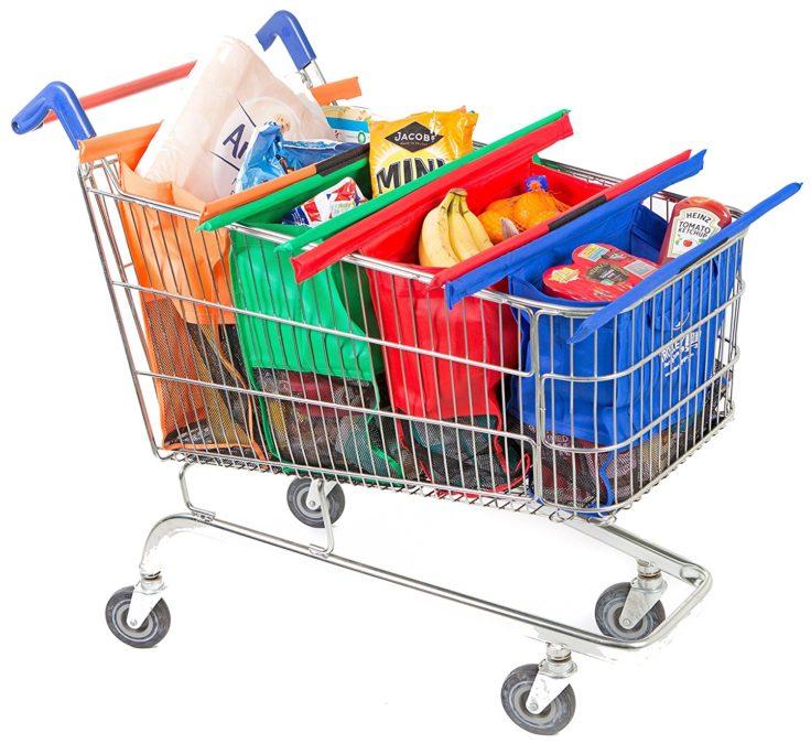 4 in 1 Einkaufstasche Einkaufswagen voll