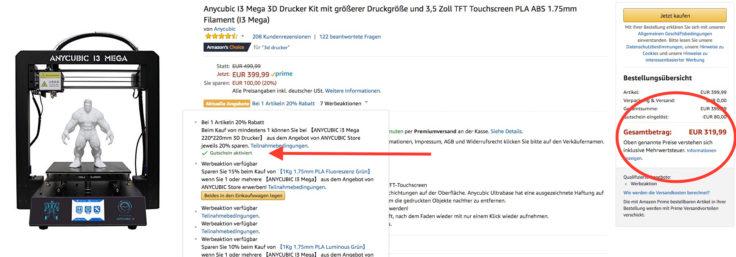 Anycubic Amazon Gutschein