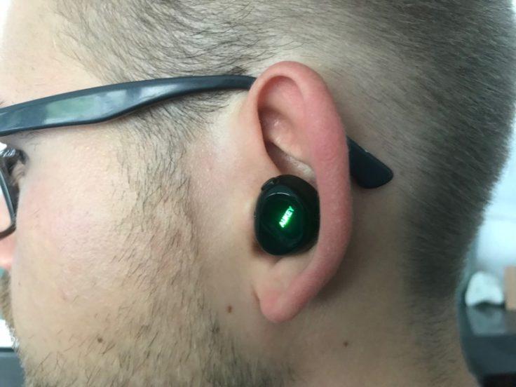 Aukey EP-T1 wirelesss In-Ear im Ohr
