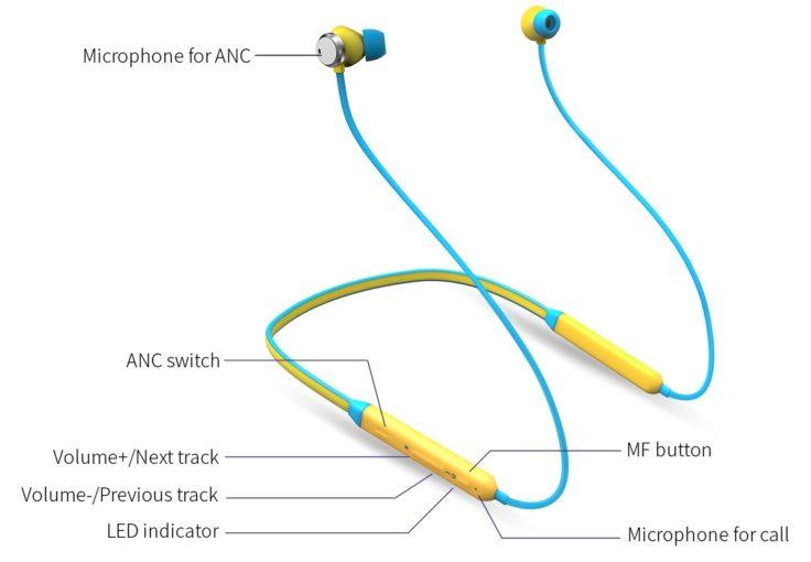 Bluedio TN Bluetooth Sport In-Ear mit ANC Bedienung