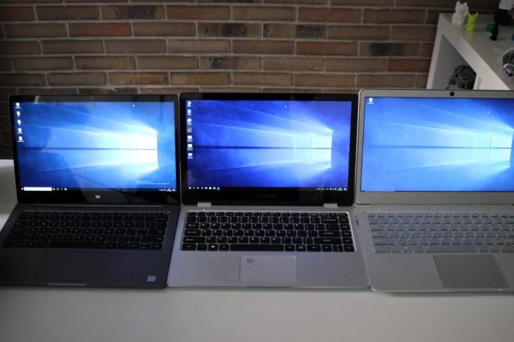 Display Vergleich Teclast F6 Pro