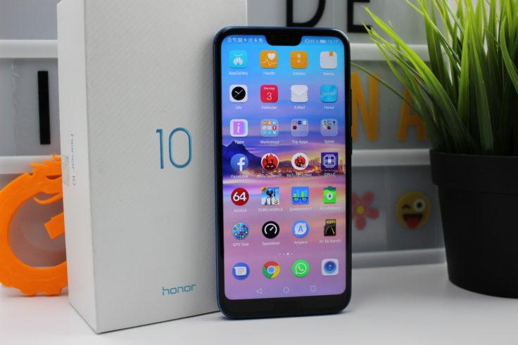 Honor 10 Smartphone mit Box