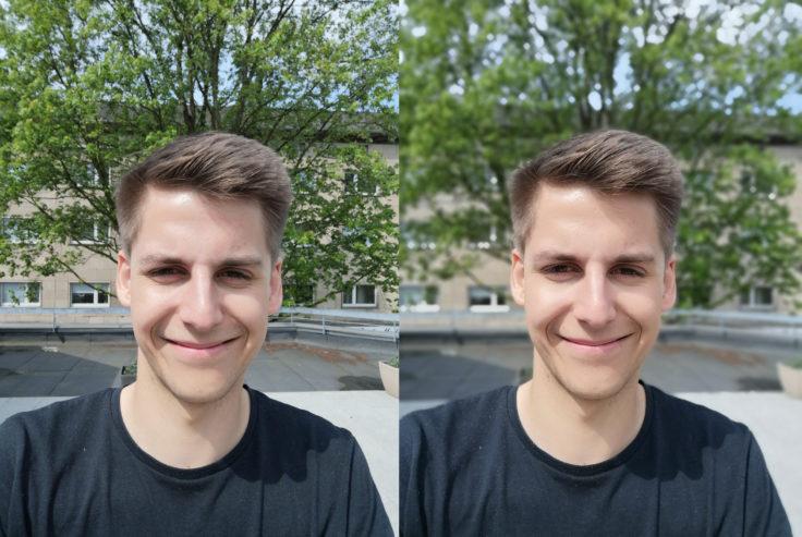 Honor 10 Testfoto Frontkamera Vergleich Portrait