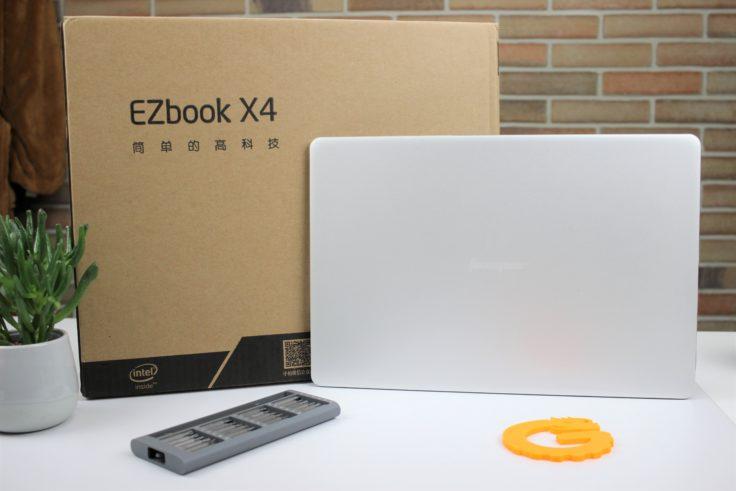 Jumper EZBook X4 mit Verpackung