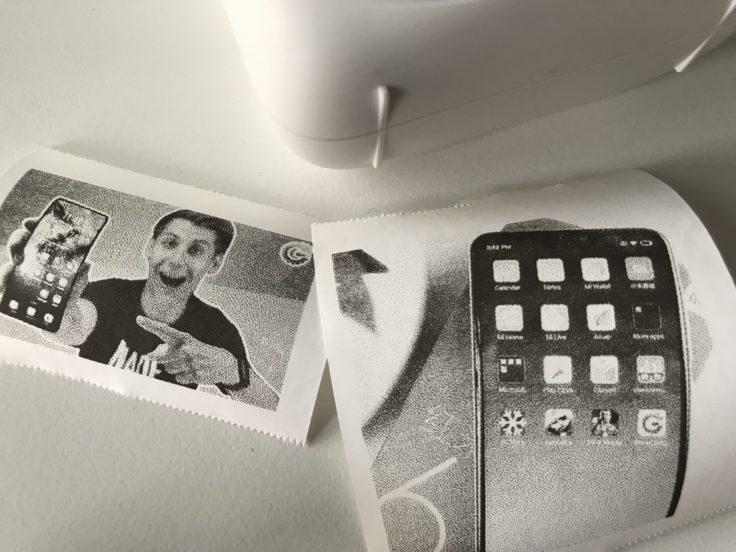Paperang P1 Gedrucktes Foto