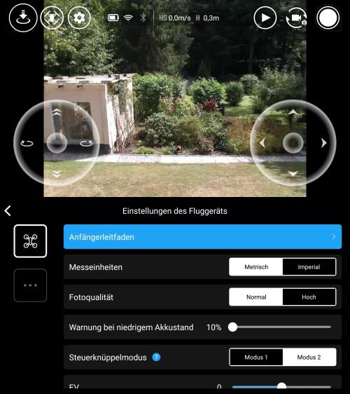 RYZE Tello App Interface
