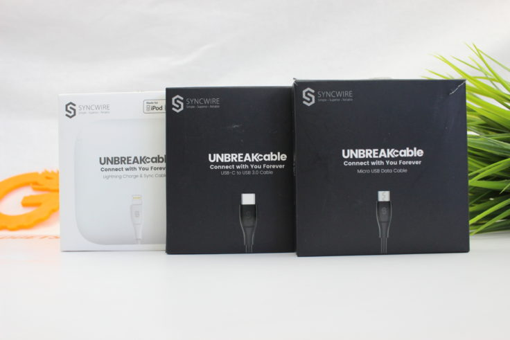 Syncwire UNBREAKcabel Ladekabel Verpackung