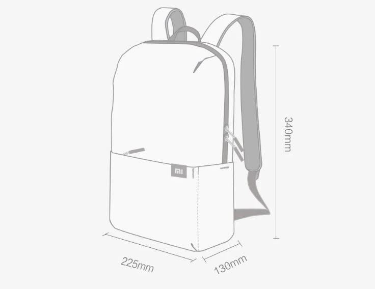 Xiaomi 10 l Rucksack Maße