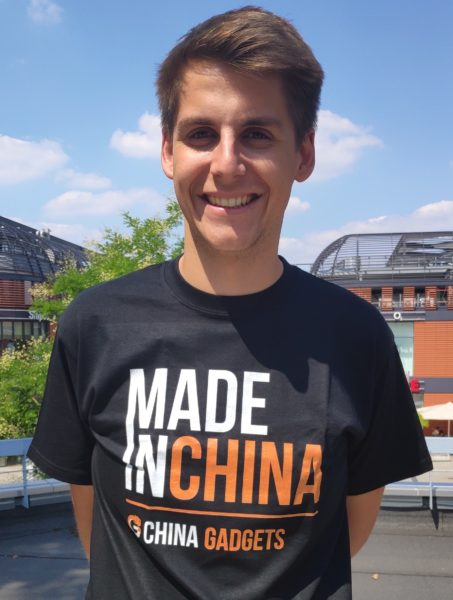 Thorben mit Made in China T-Shirt