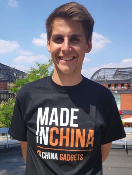 Thorben mit Made in China T-Shirt