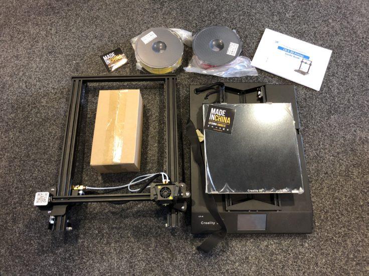 Creality CR-X Verpackung ausgepackt