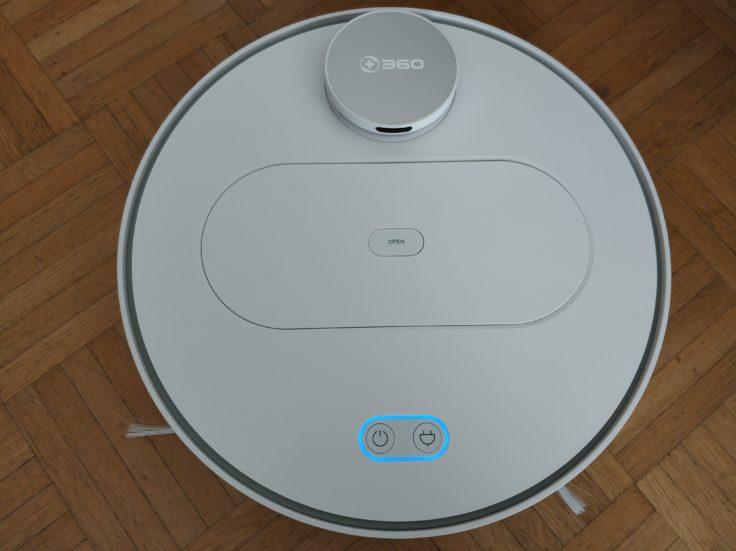 360 S6 Sweeping Robot Saugroboter Design Obenansicht