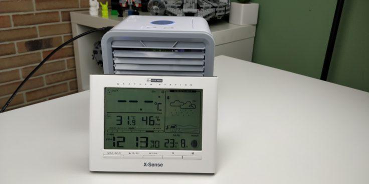 Arctic Air Tisch Klimaanlage Temperatur nachher