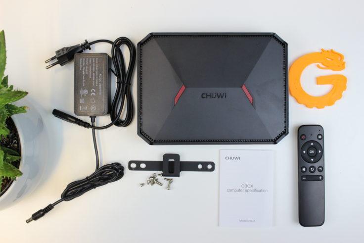 CHUWI GBox Mini PC Lieferunfang