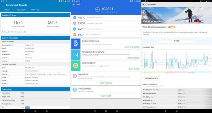 Chuwi Hi9 Air Tablet Benchmark Ergebnisse