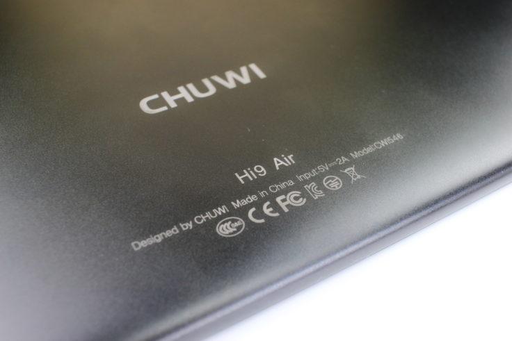 Chuwi Hi9 Air Tablet CE-Kennzeichnung