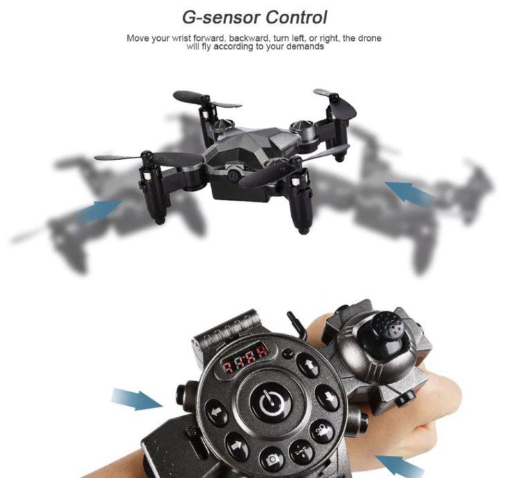 Drohne mit Steuerung am Handgelenk (2)