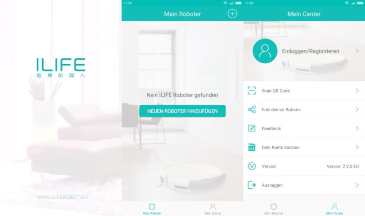 ILIFE A7 Saugroboter App