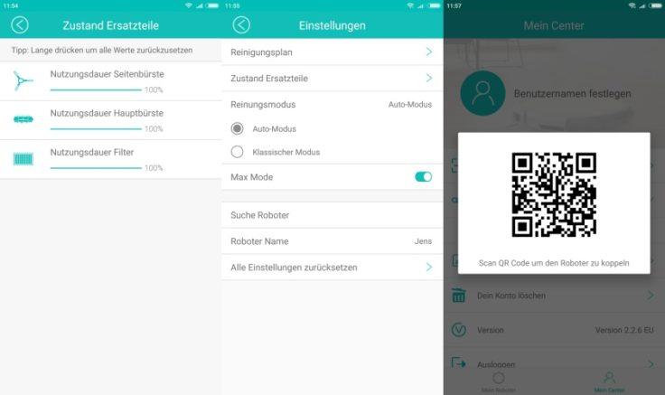 ILIFE A7 Saugroboter App Einstellungen