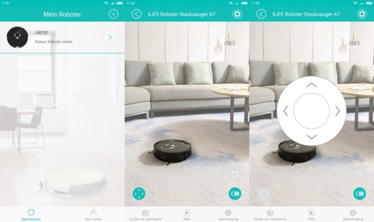 ILIFE A7 Saugroboter App-Steuerung