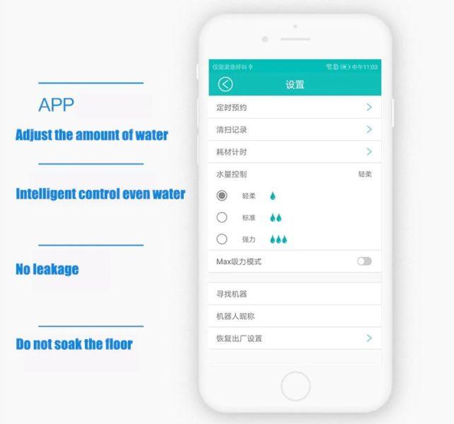 ILIFE X800 Saugroboter App Wischfunktion