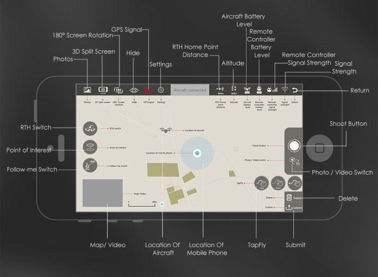 JJRC JJPRO X5 EPIK Drohne Smartphone App