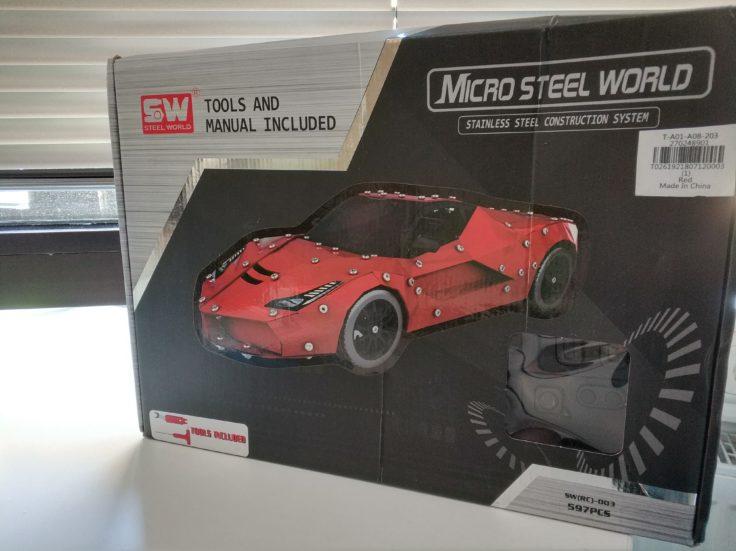 Micro Steel World Sportwagen Bausatz Karton (1)