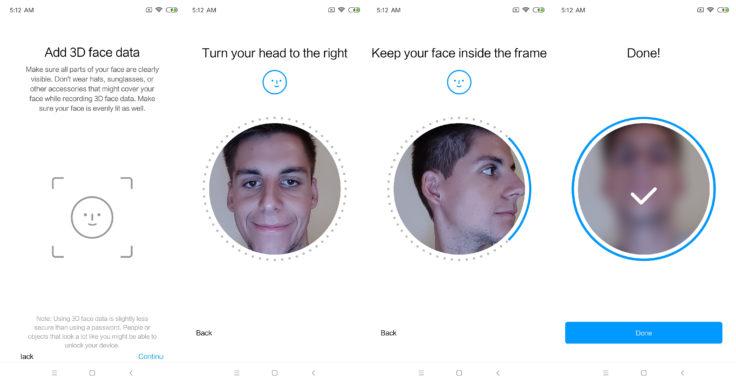 Xiaomi Mi 8 EE 3D Face Unlock
