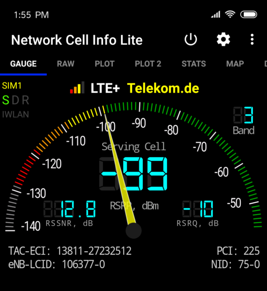 Xiaomi Mi 8 EE LTE Info Screenshot