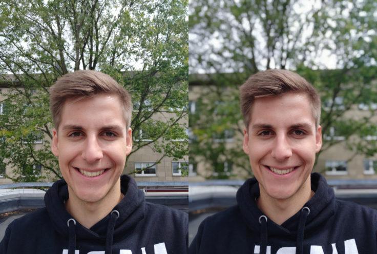 Xiaomi Mi 8 EE Testfoto Frontkamera Portrait Modus Vergleich