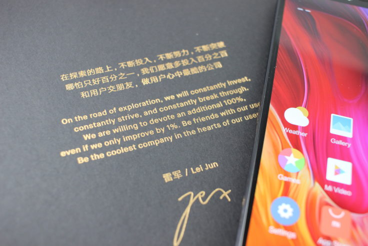 Xiaomi Mi 8 Explorer Edition CEO Gruß