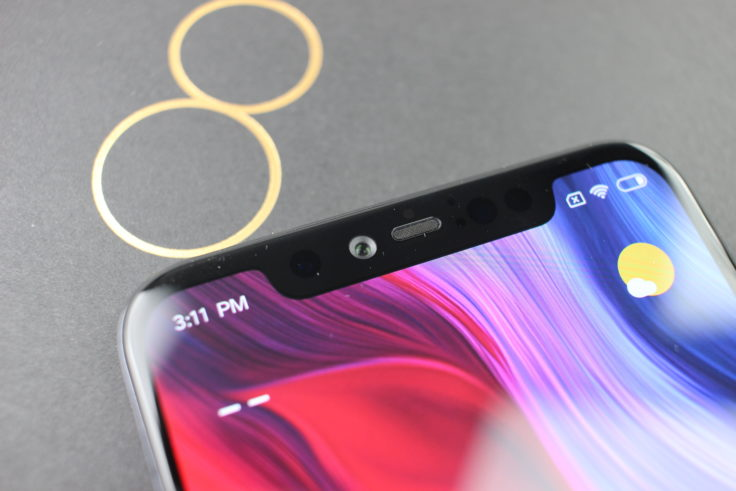 Xiaomi Mi 8 Explorer Edition Frontkamera Notch