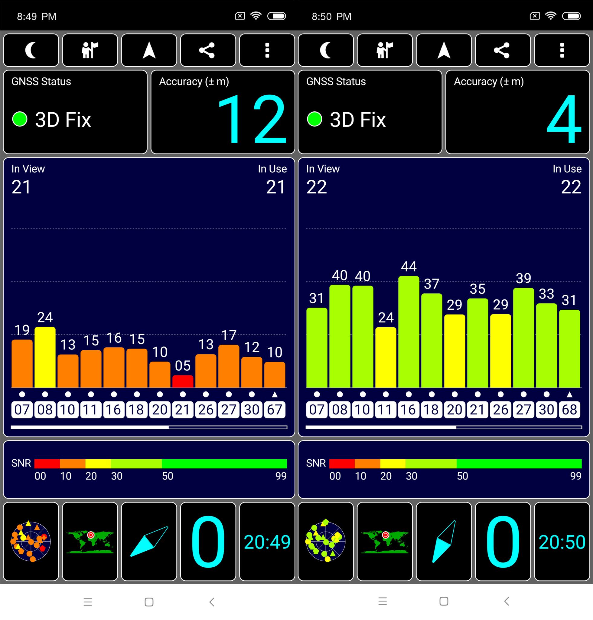 Xiaomi Mi 8 SE GPS Test