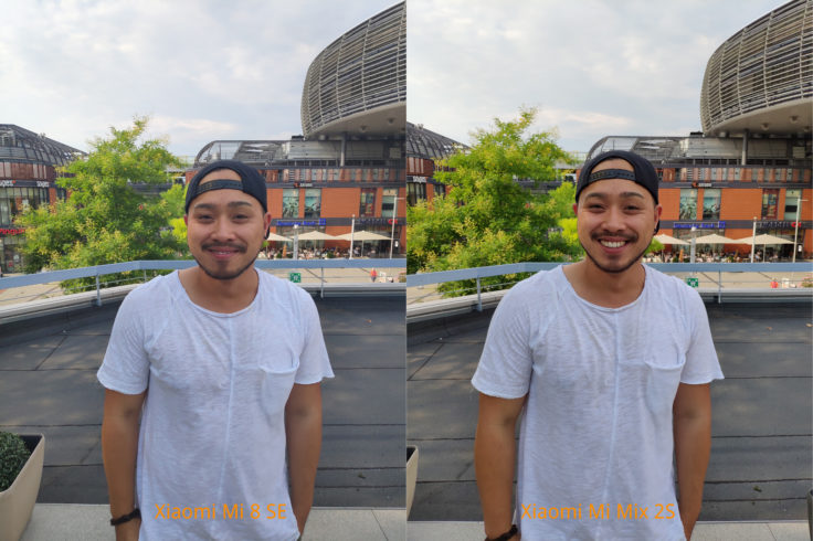 Xiaomi Mi 8 SE Testfoto Vergleich Person mit Mix 2S