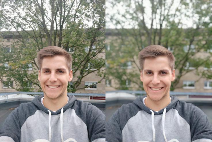 Xiaomi Mi A2 Testfoto Frontkamera Portrait Vergleich