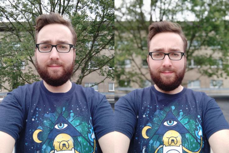 Xiaomi Mi Max 3 Testfoto Selfie Portrait Vergleich